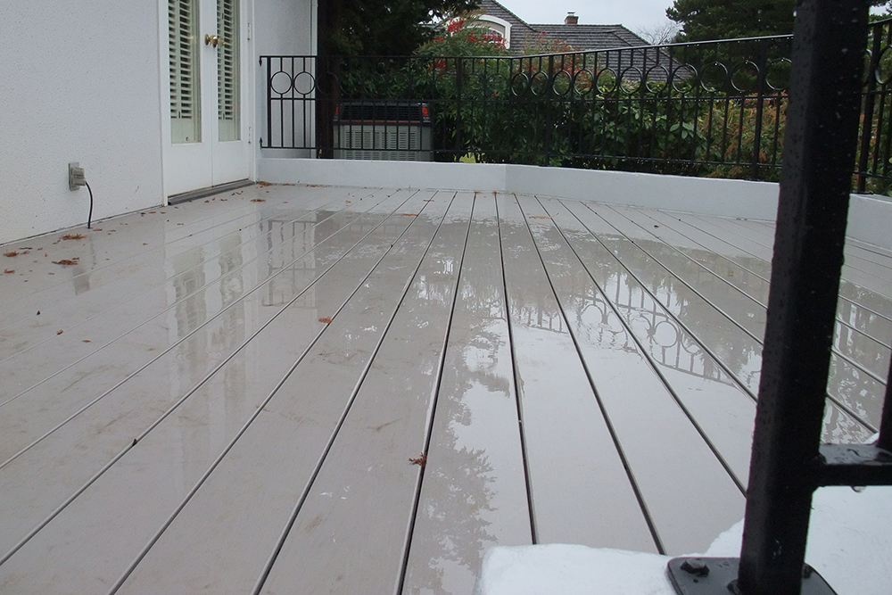 Decks all about decks for Cost of composite decking vs pressure treated