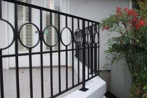 metal decorative deck railing