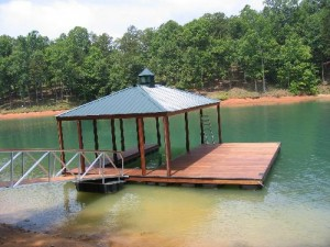 covered dock with  open dock
