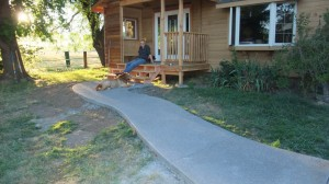 concrete side walk porch